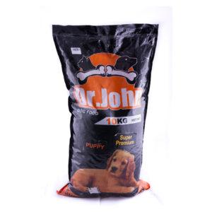 غذای خشک مخصوص سگ پاپی برند Dr.john (سوپرپرمیوم) ده کیلوگرم