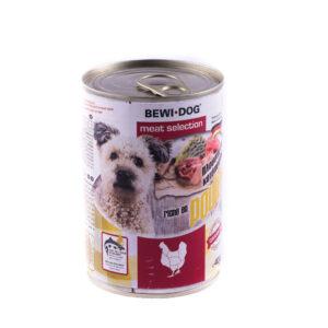 کنسرو سگ بوی داگ مرغ 400 گرمی BEWI.DOG