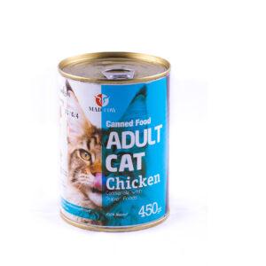کنسرو گربه بالغ مرغ 450 گرمی MadCow