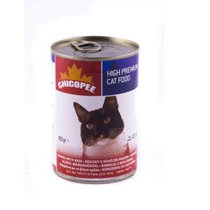 کنسرو گربه چیکوپی گوشت 400گرم chicopee beef