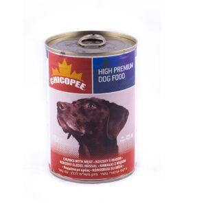 کنسرو سگ چيکوپی گوشت 400گرم chicopee meat