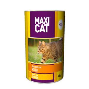 کنسرو گربه بالغ با طعم مرغ Maxi Cat 400gr