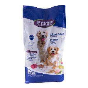 غذای خشک سگ بالغ نژاد بزرگ پرامی 23% گوشت گاو و برنج 10کیلویی Pramy