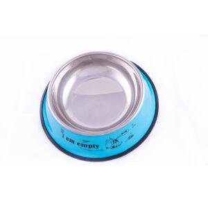 ظرف غذای سگ رنگ آبی به همراه ترمزگیر