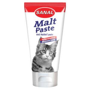 خمیر مالت سانال گربه آنتی هیربال دارای  ویتامین 100 گرمی