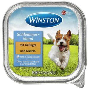 کنسرو غذای سگ وینستون مدل مرغ و نودل وزن ۱۵۰ گرم