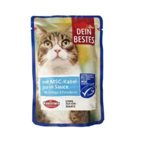 پوچ گربه دین بستس مدل ماهی وزن 100 گرم