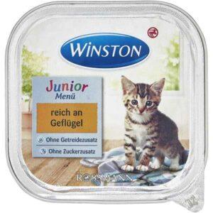 کنسرو غذای بچه گربه ووم وینستون مدل mit geflugel