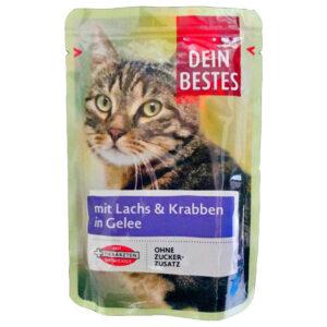 پوچ گربه دین بستس طعم ماهی سالمون وزن 100 گرم